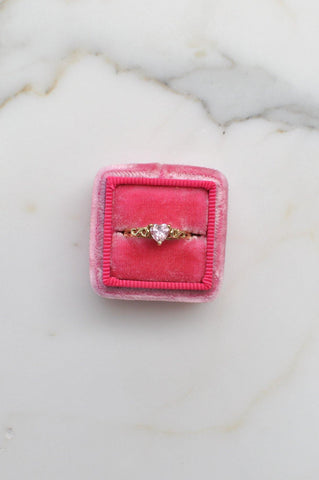 __Gold West Vintage__Pink Heart Ring
