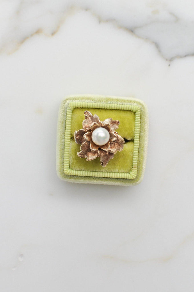 Floral Pearl Cocktail Ring