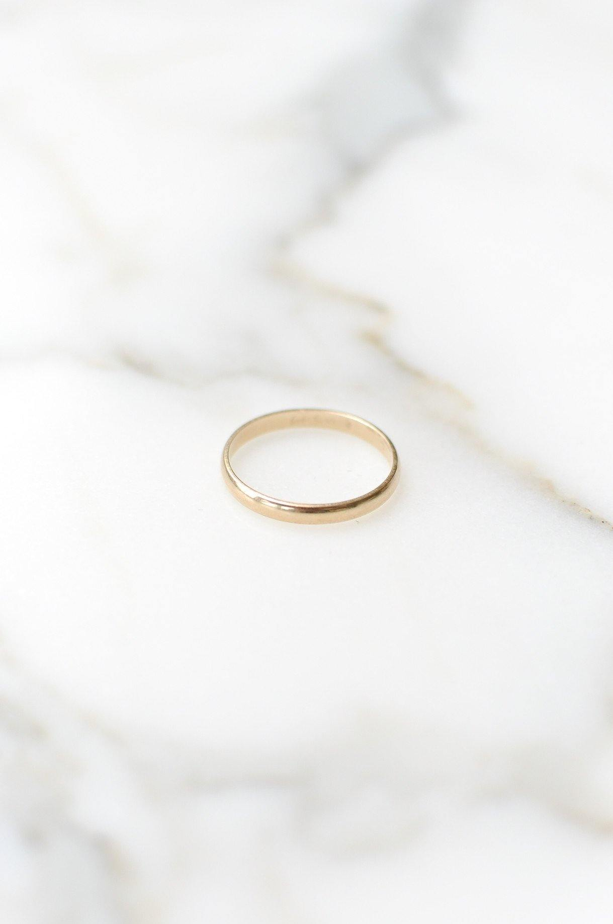Stackable Gold Band Ring