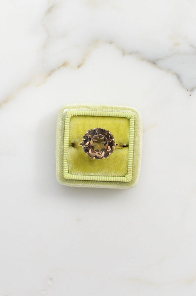 __Gold West Vintage__Smoky Topaz Ring