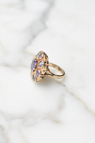 __Gold West Vintage__Alexandrite Dome Ring