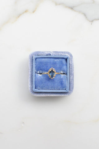 __Gold West Vintage__Blue Gem Layering Ring