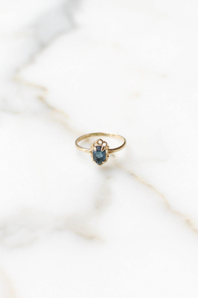 Blue Gem Layering Ring