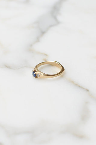 __Gold West Vintage__Blue Topaz Ring