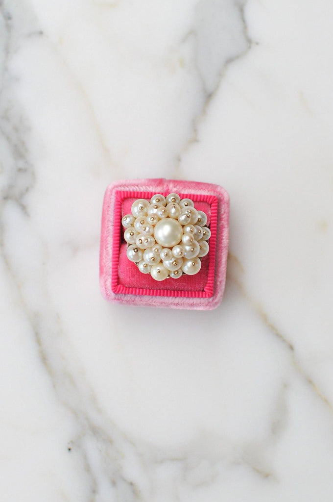 Clustered Pearl Cocktail Ring