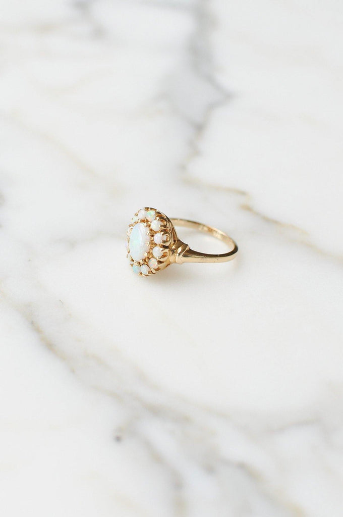 Australian Opal Cocktail Ring