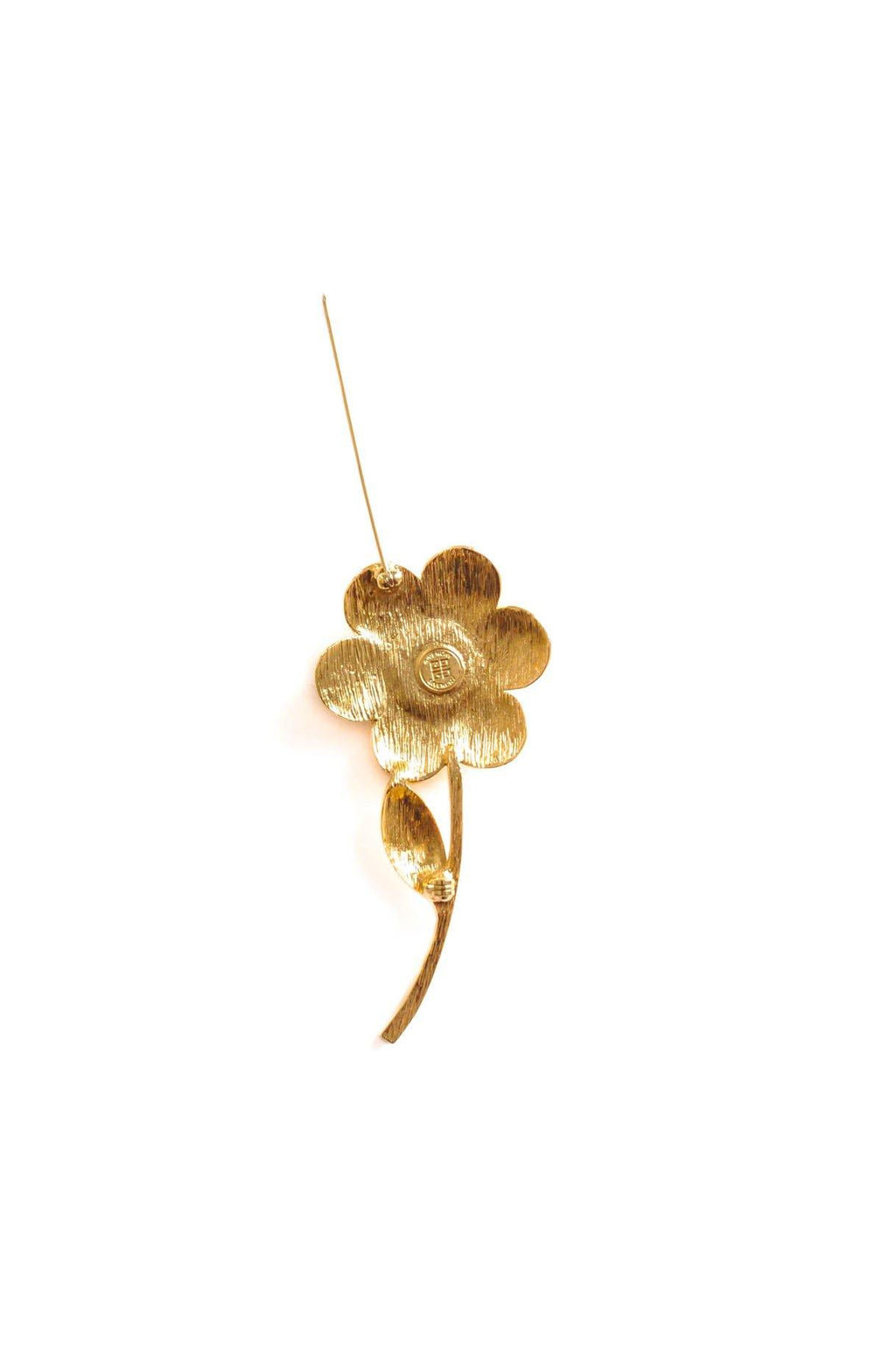 Givenchy Floral Pearl Brooch