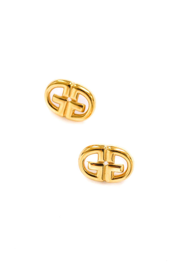 Givenchy Logo Pierced Earrings