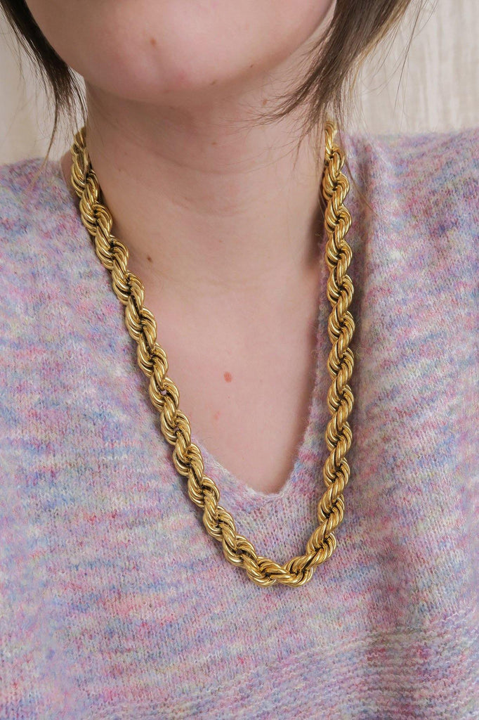 Givenchy Chunky Twisted Rope Necklace