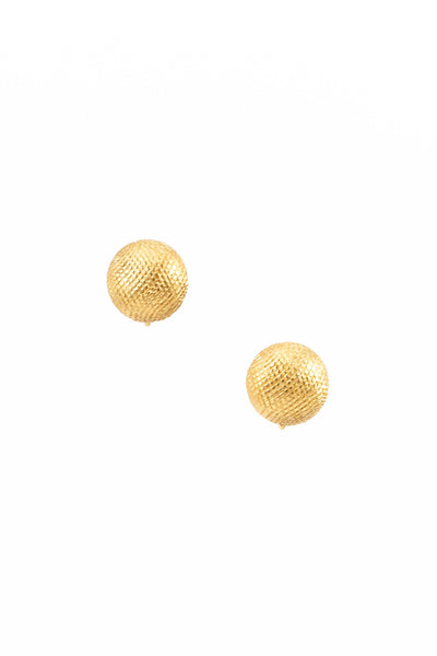 70's__Trifari__Etched Circle Stud Clips