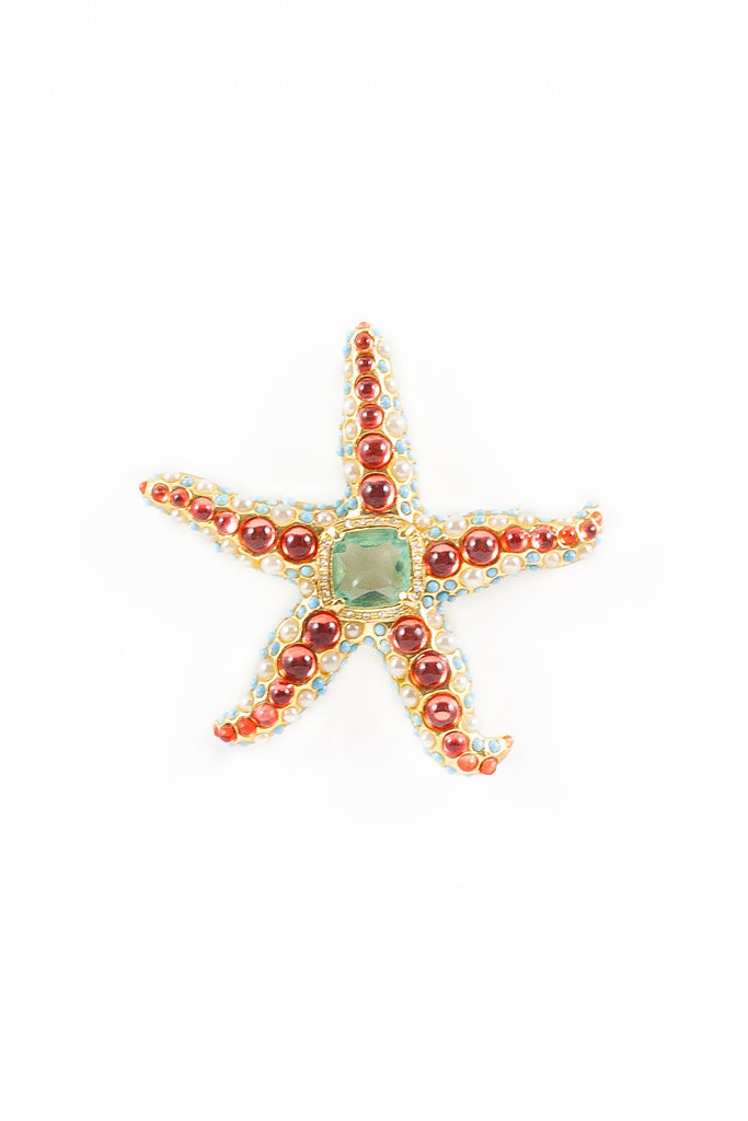 60's__Kenneth Jay Lane__Embellished Starfish Pin