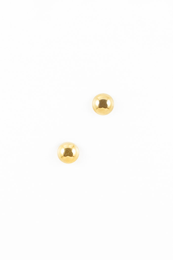 90's__Vintage__Gold Ball Stud Earrings