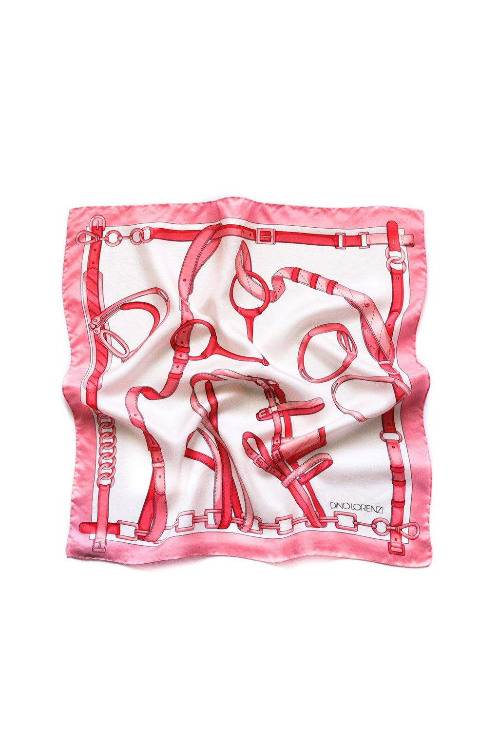 Pink Equestrian Square Scarf