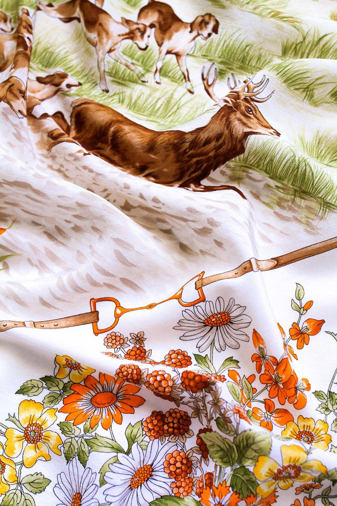 Hunting Dogs Square Scarf
