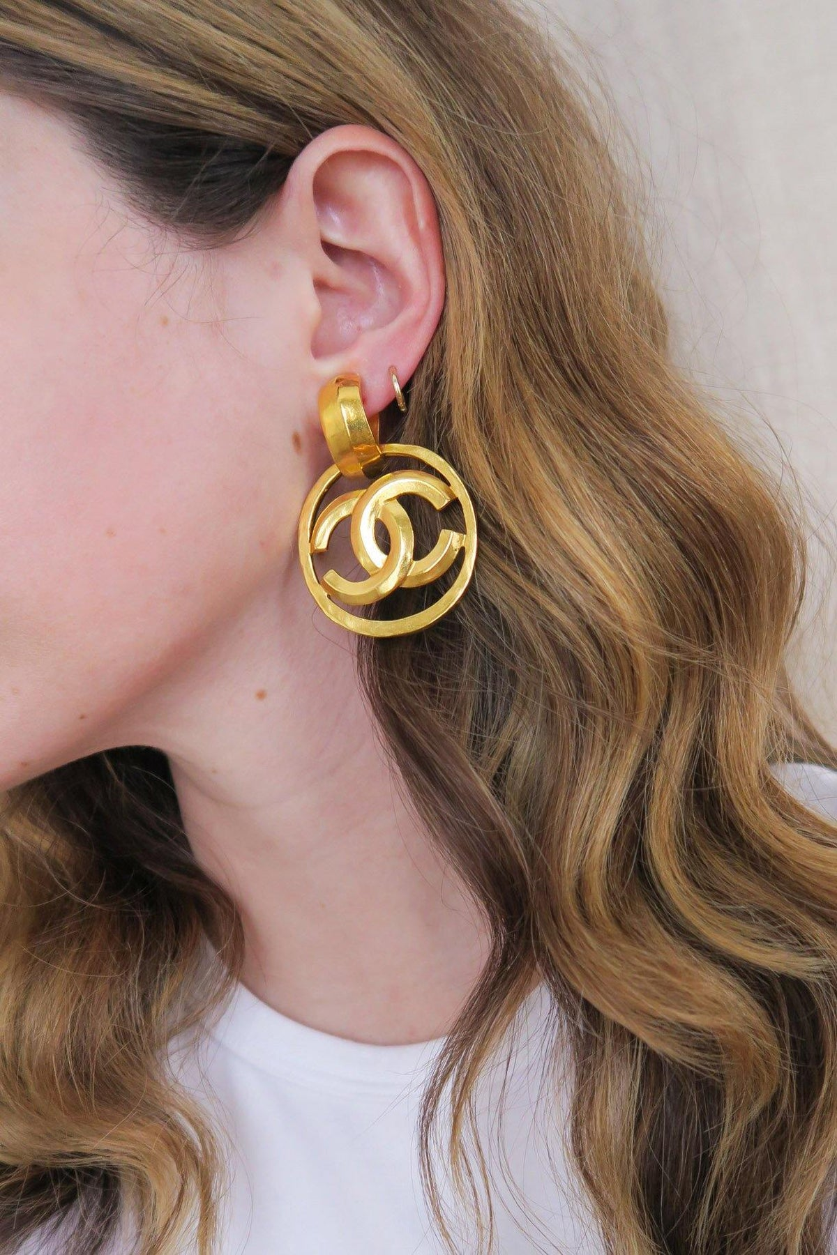 Chanel CC Drop Clip-on Earrings
