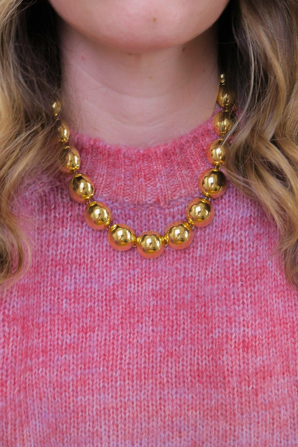 Vintage Chunky Half Moons Necklace from Sweet and Spark