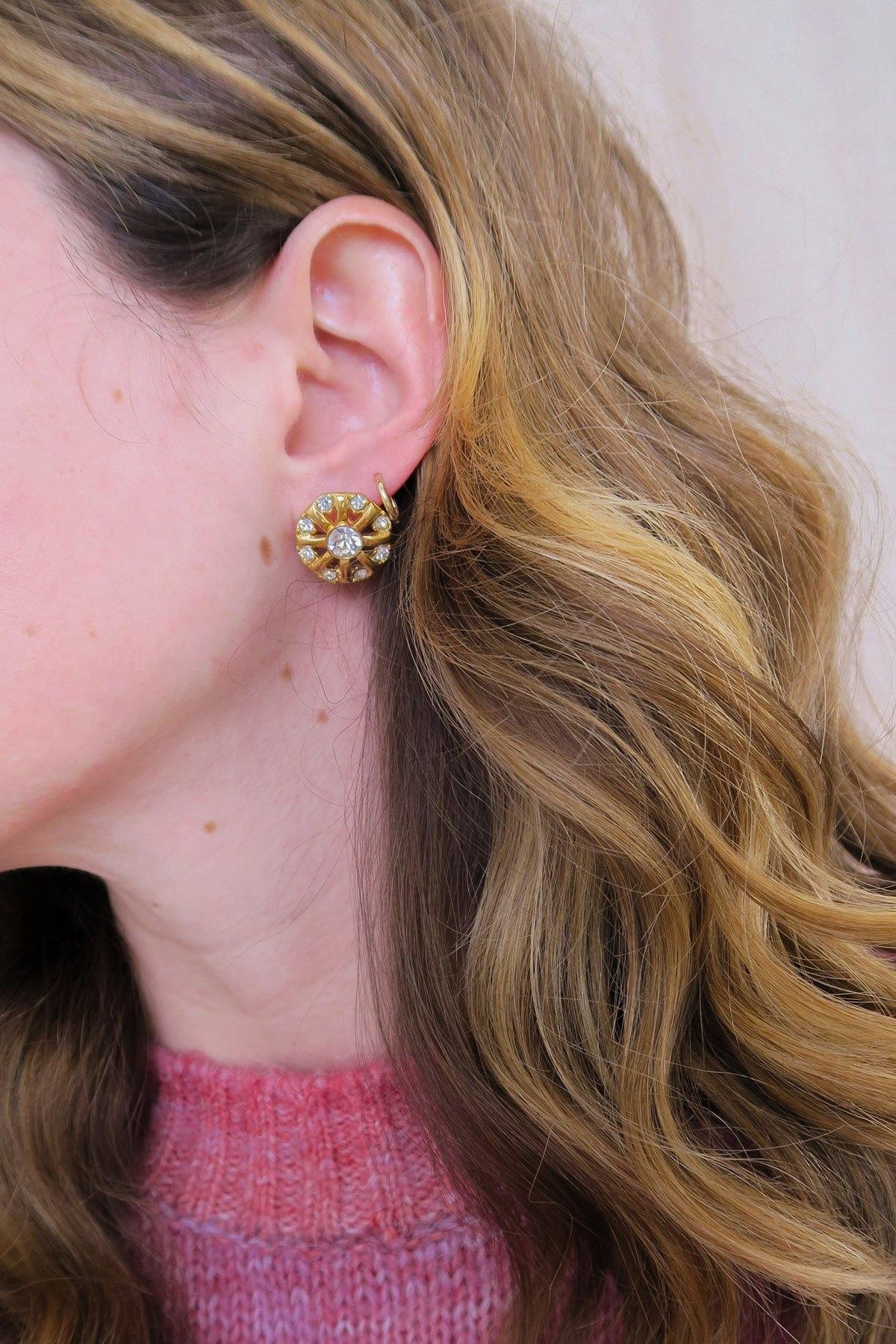 Vintage Monet round pierced earrings from Sweet & Spark.