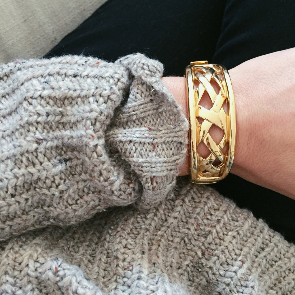 70's Basketweave Bangle