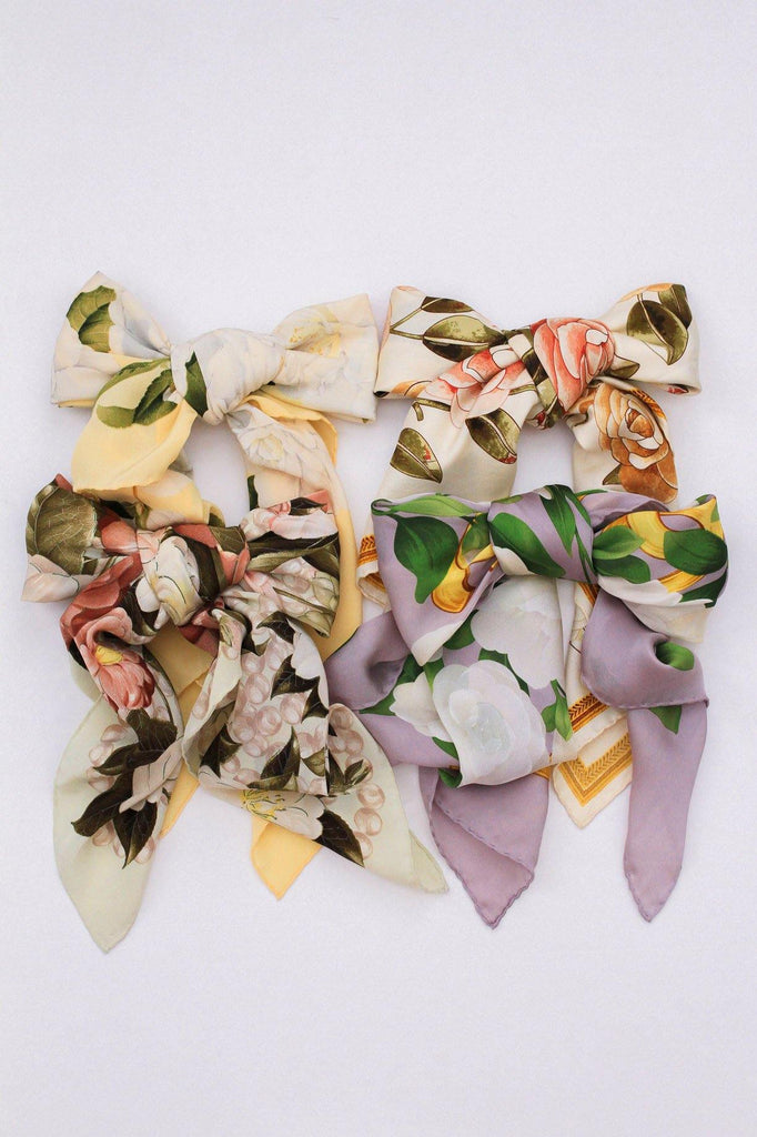 Chanel Floral Pearl Square Scarf