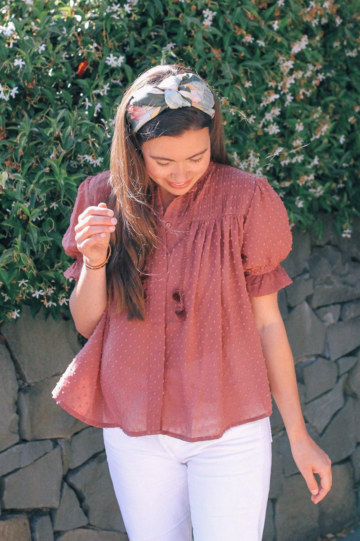 Bishop & Young Sienna Blouse in Antique Rose