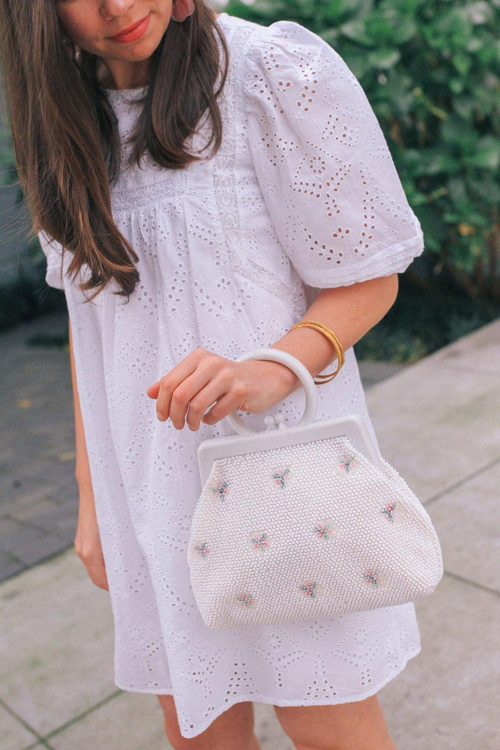 Floral Beaded Statement Handbag