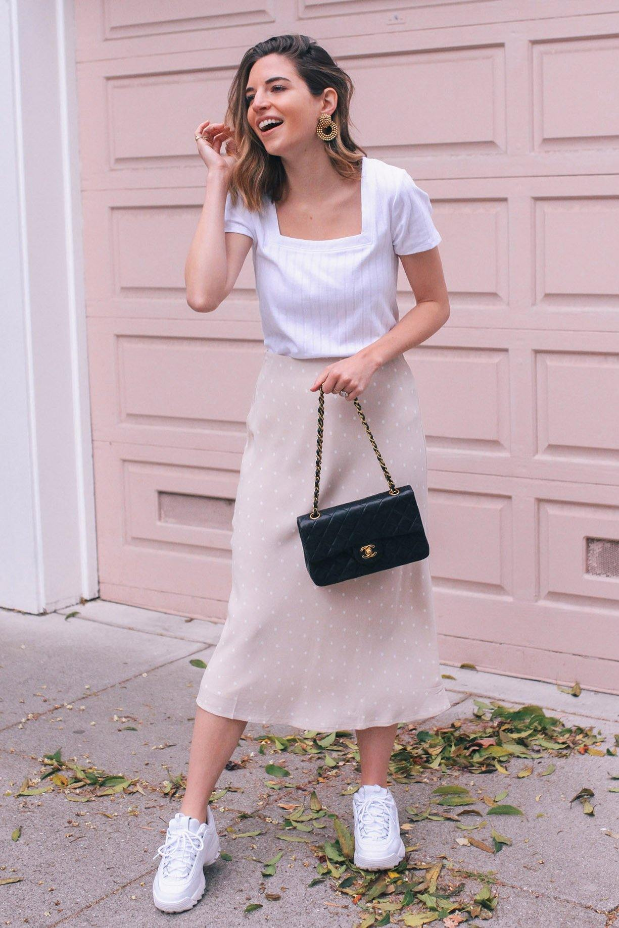 Sanctuary Everyday Dot Midi Skirt