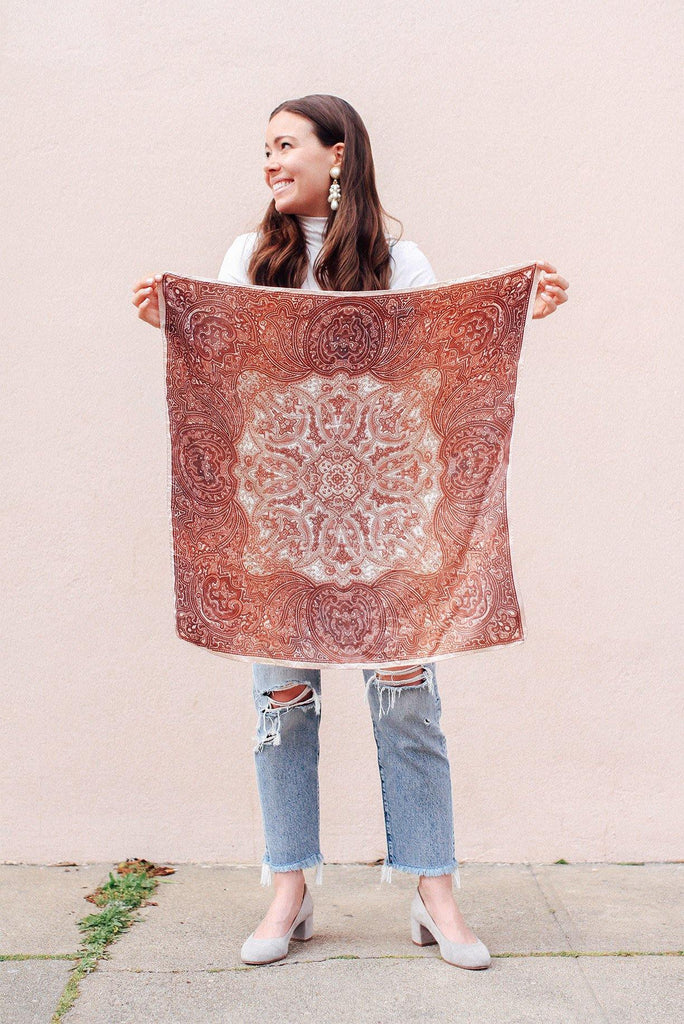 Paisley Square Scarf