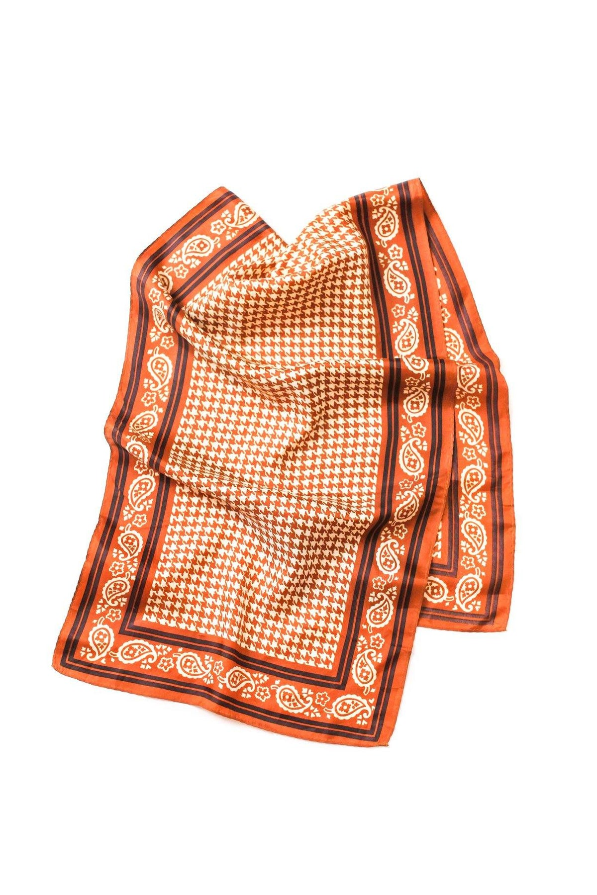 Vintage paisley houndstooth rectangle scarf from Sweet & Spark.