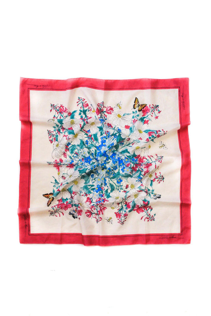 Bouquet Burst Square Scarf