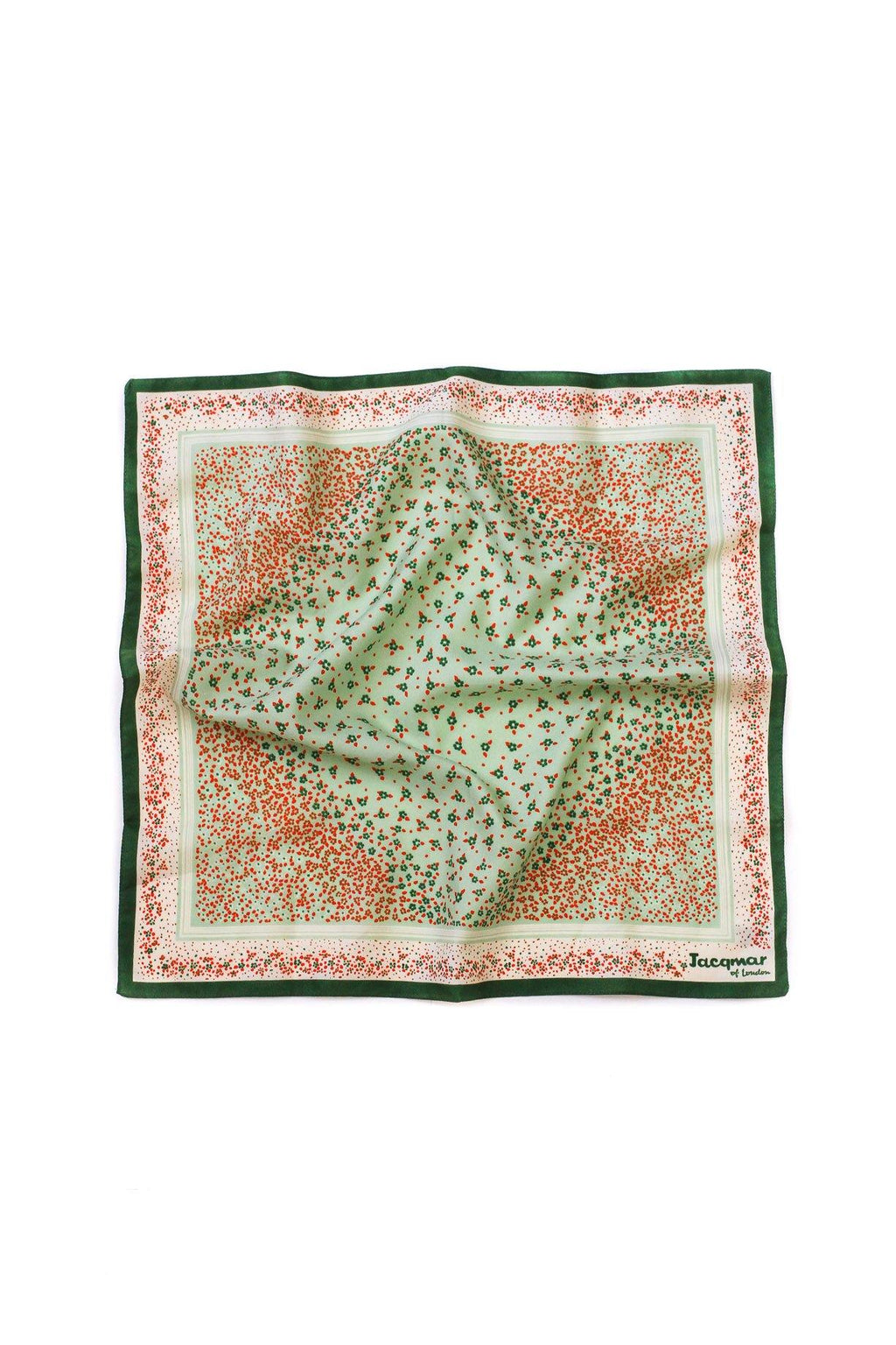 Ditsy Green Square Scarf