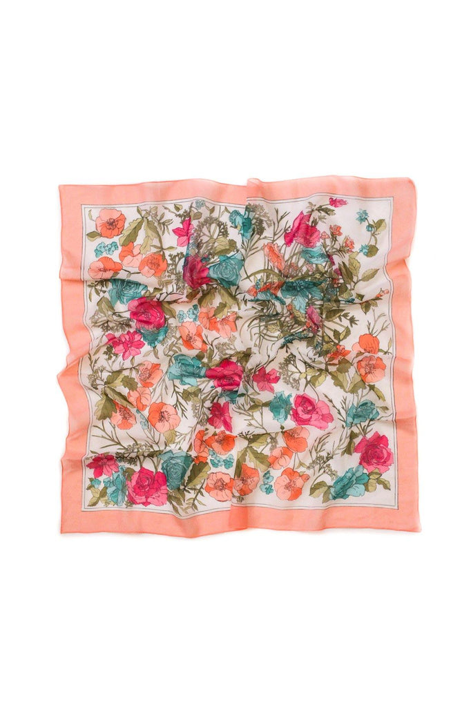 Pink Garden Square Scarf