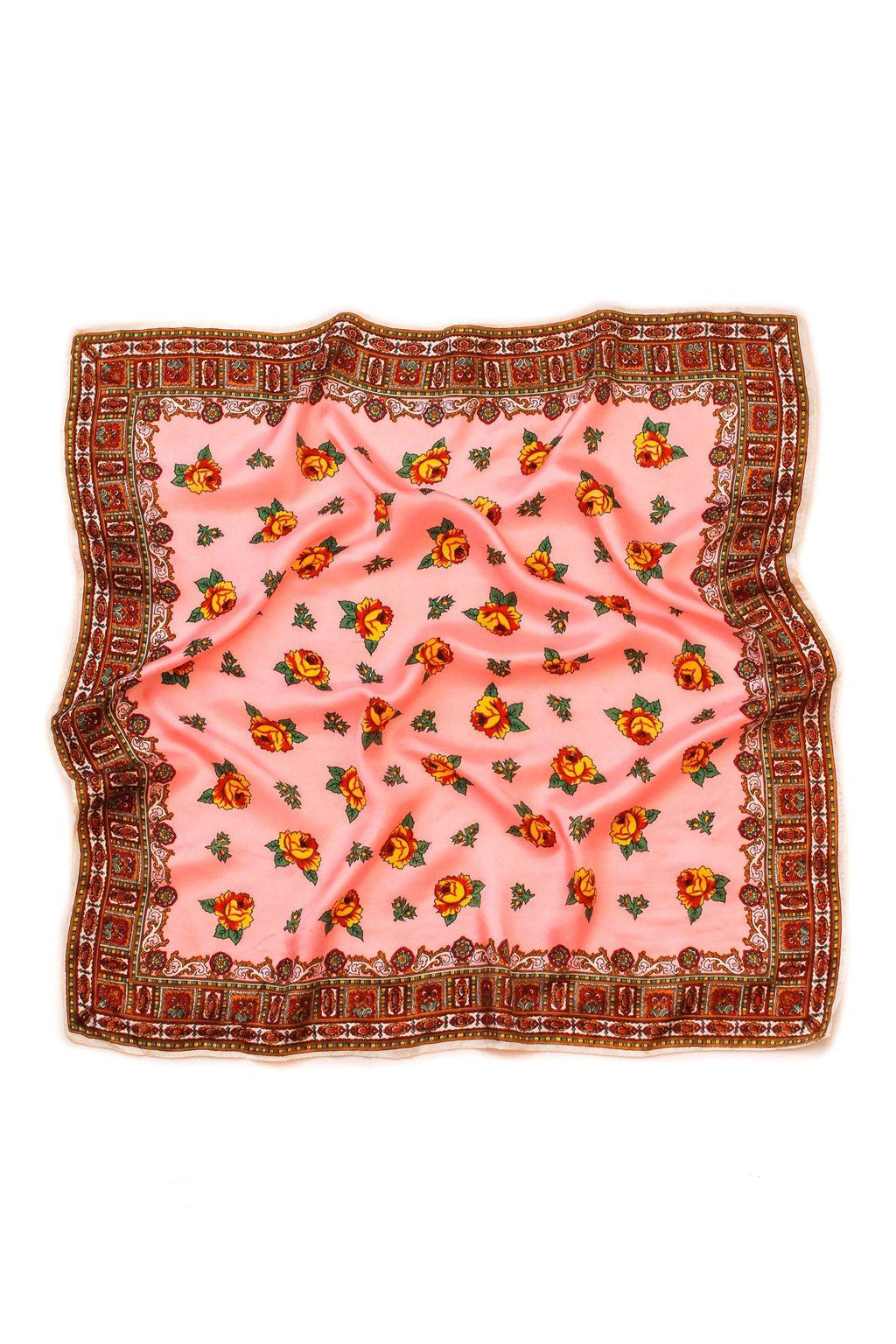 Pink Roses Square Scarf