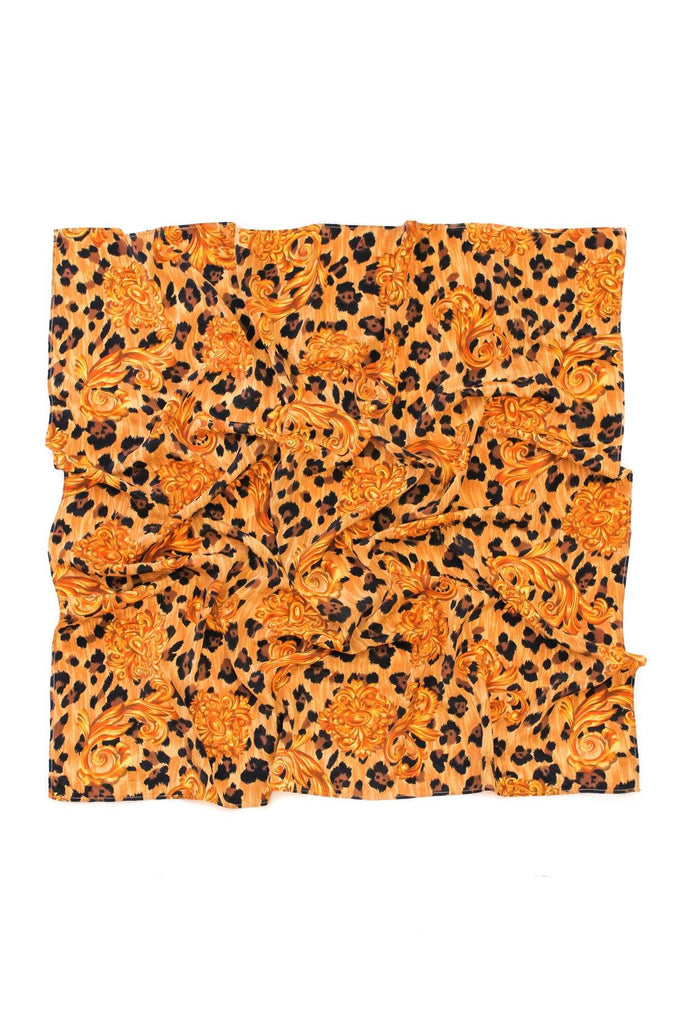 Leopard Medallion Square Scarf