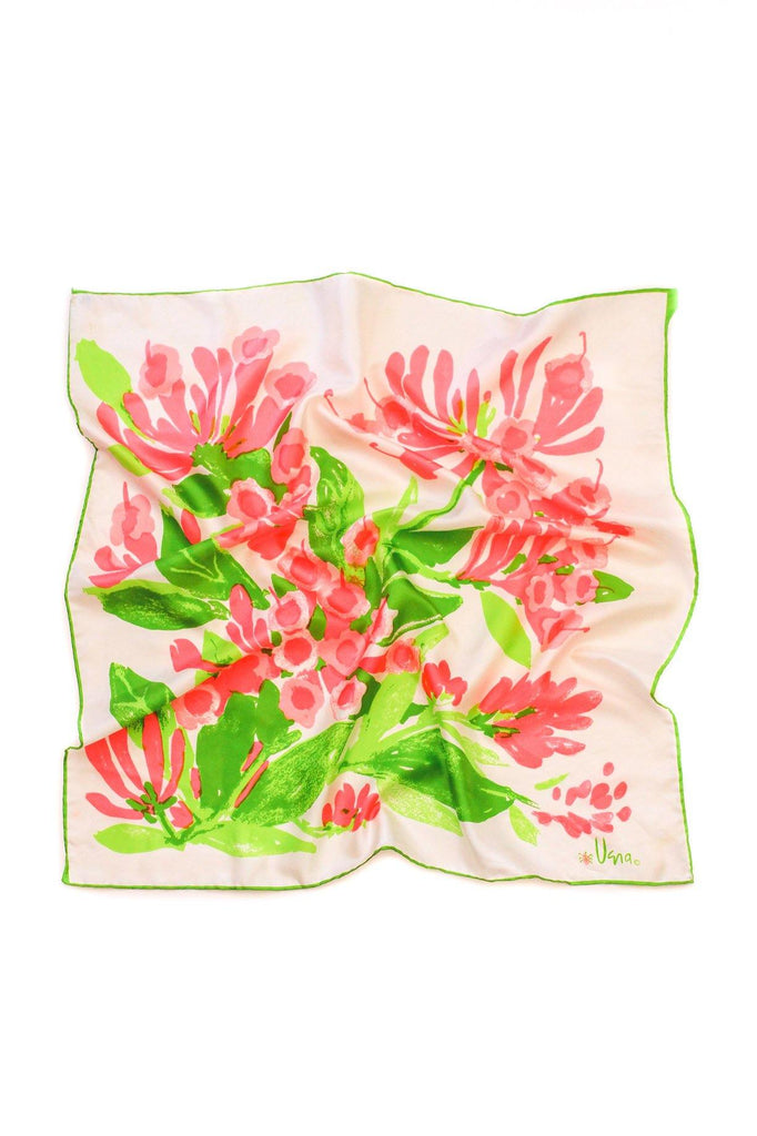 Bright Floral Square Scarf