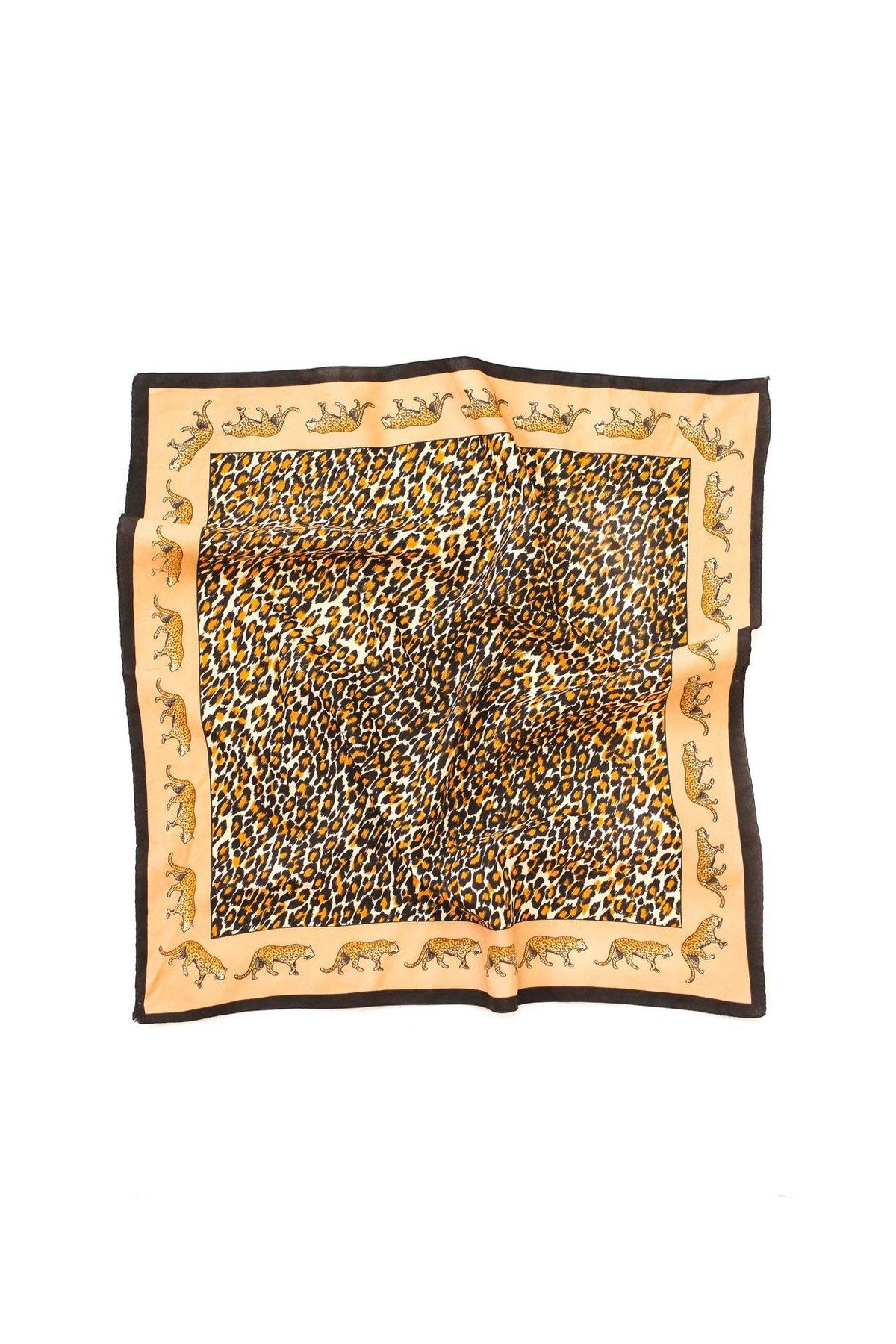 Vintage leopard square scarf from Sweet & Spark.