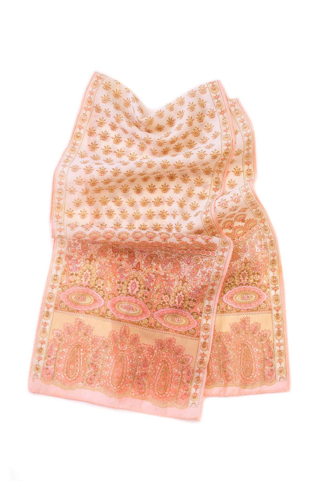 Pink Paisley Rectangle Scarf