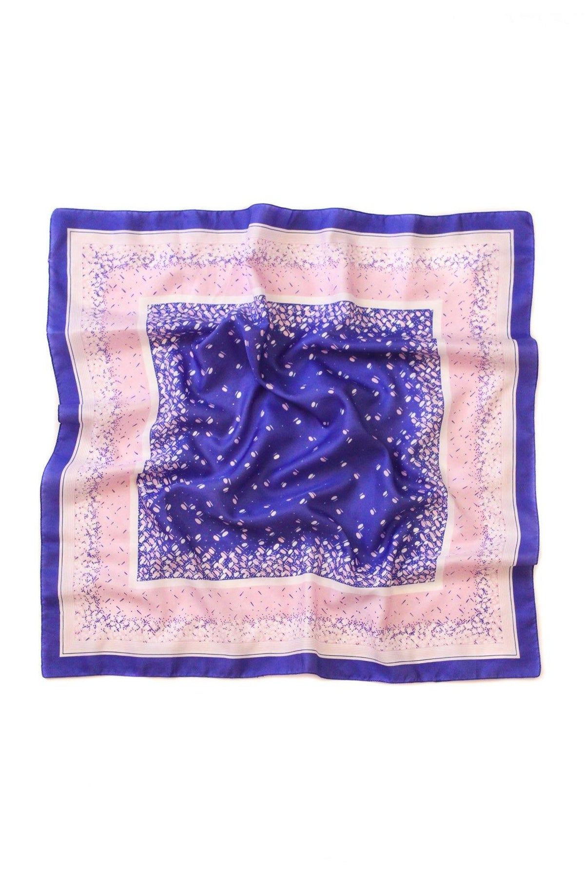 Blue and purple confetti scarf from Sweet & Spark.