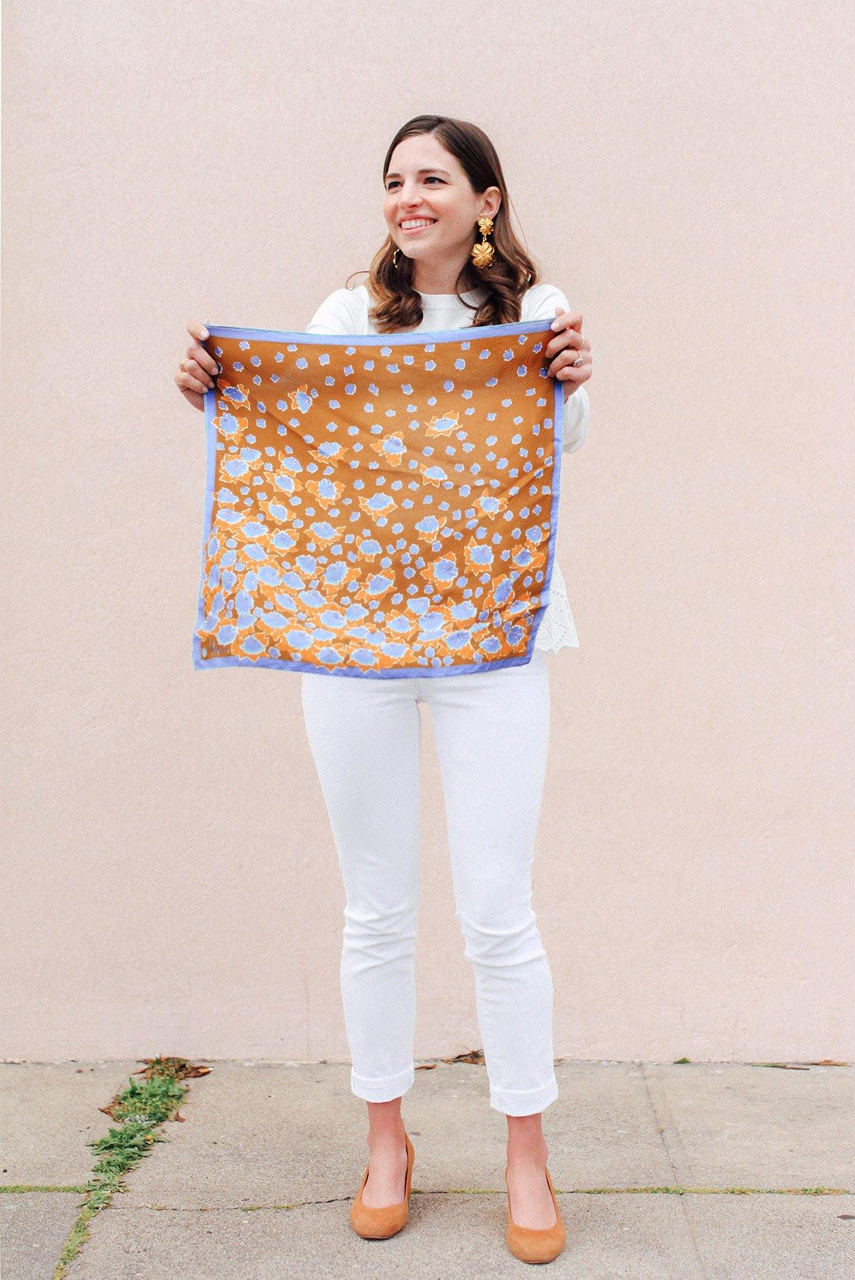Floating Florals Square Scarf