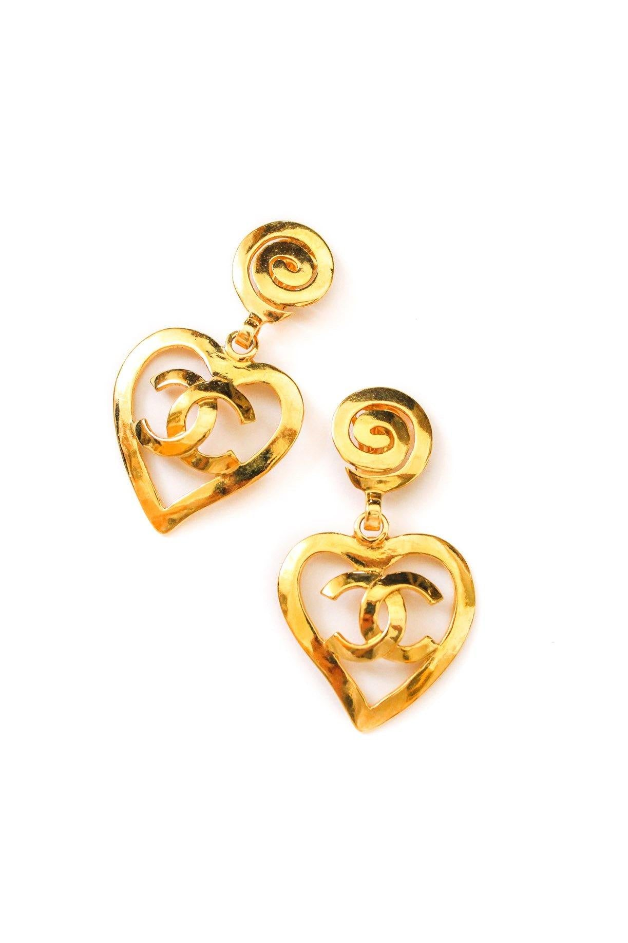 Chanel Statement Hear Clip-on Earrings