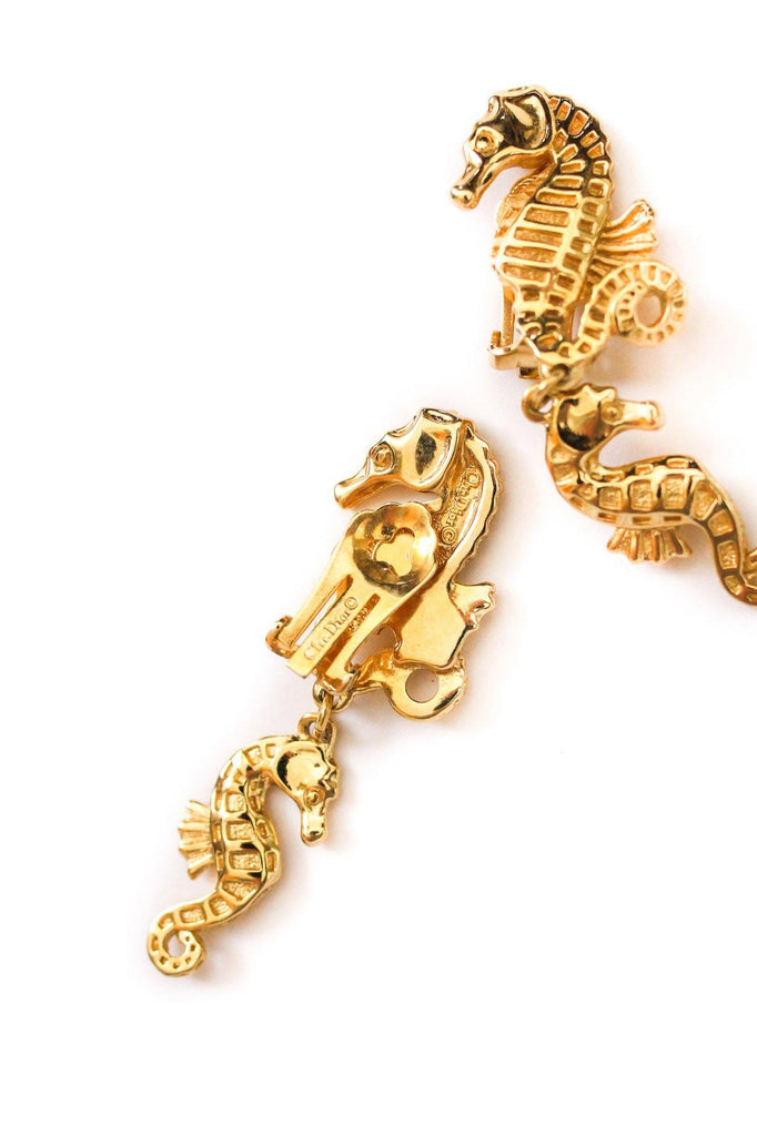 Christian Dior Seahorse Clip-on Earrings