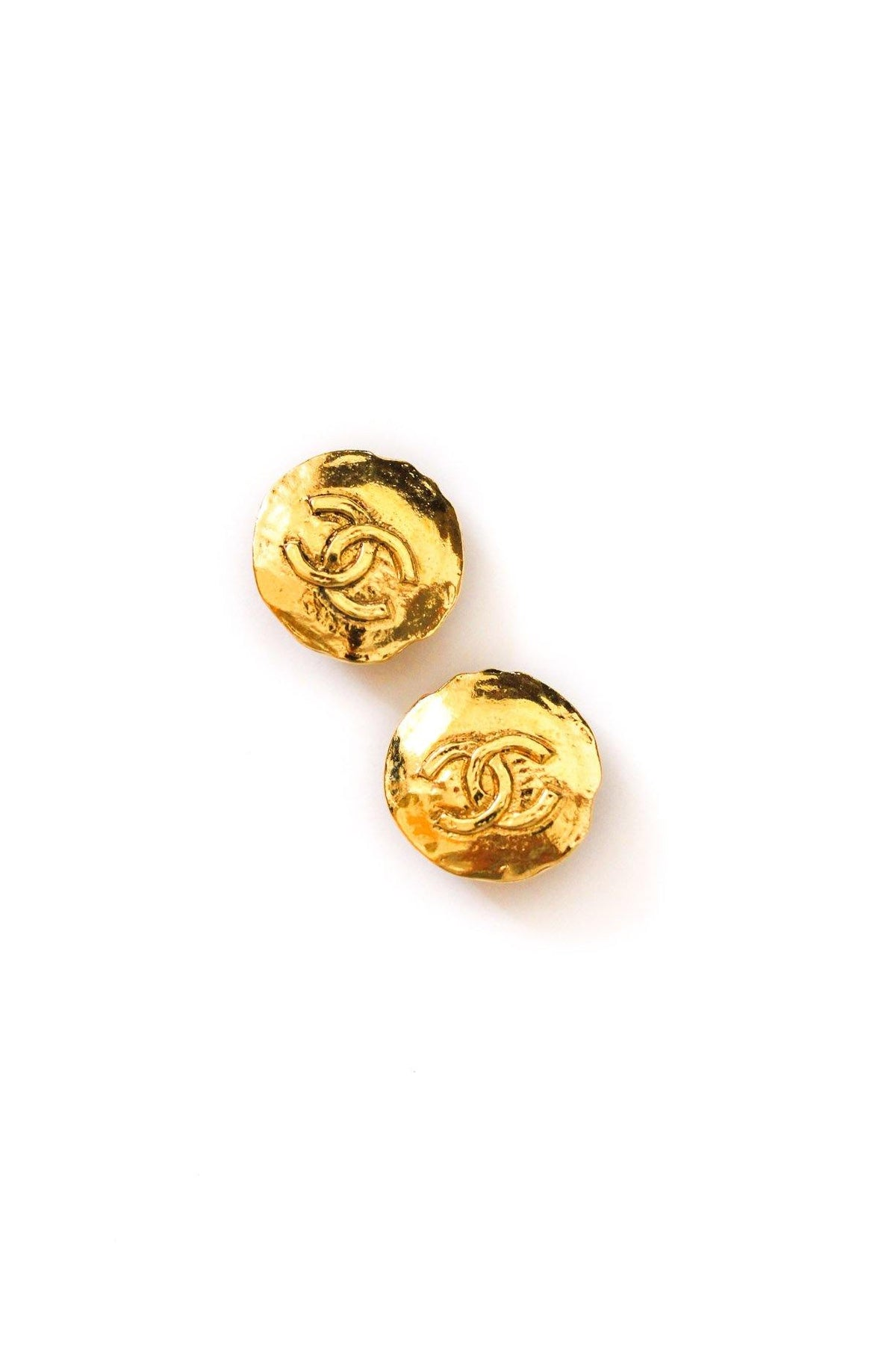 Vintage Chanel Round Coin Earrings from Sweet & Spark.