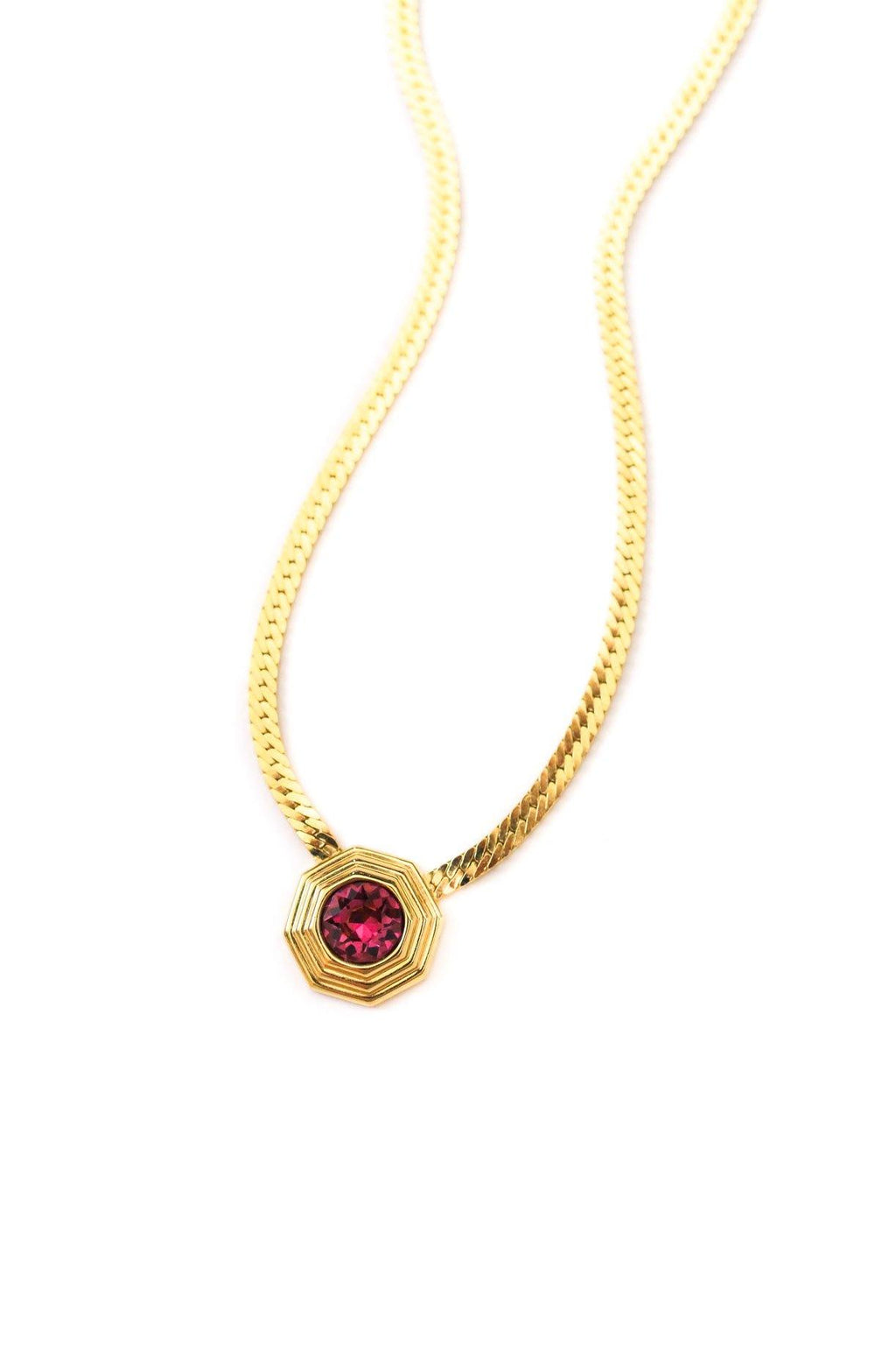 Christian Dior Purple Gem Pendant Necklace