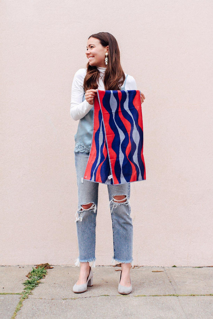 Waves Rectangle Scarf