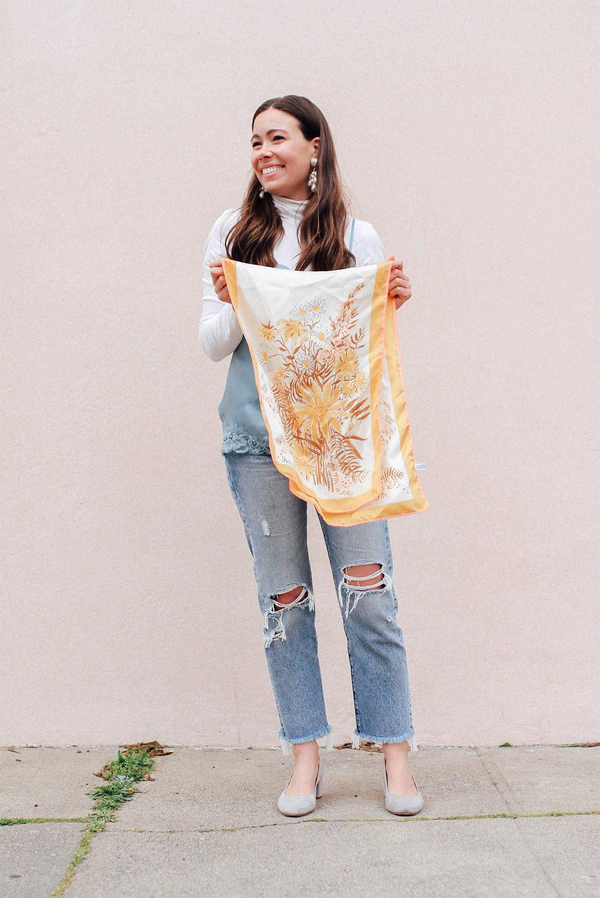 Sunflower Rectangle Scarf