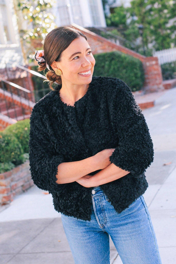 Bishop & Young Black Faux Fur Jacket