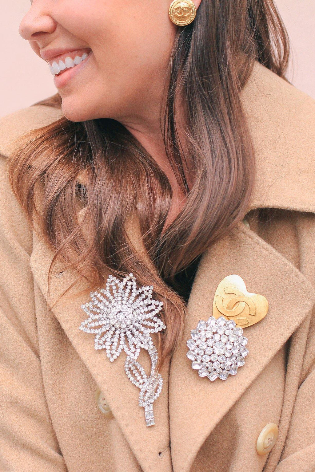 Chanel Statement Heart Brooch