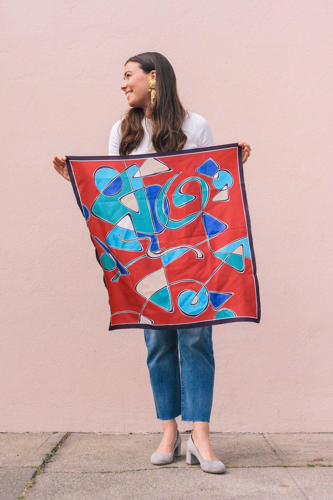 Bright Geo Square Scarf
