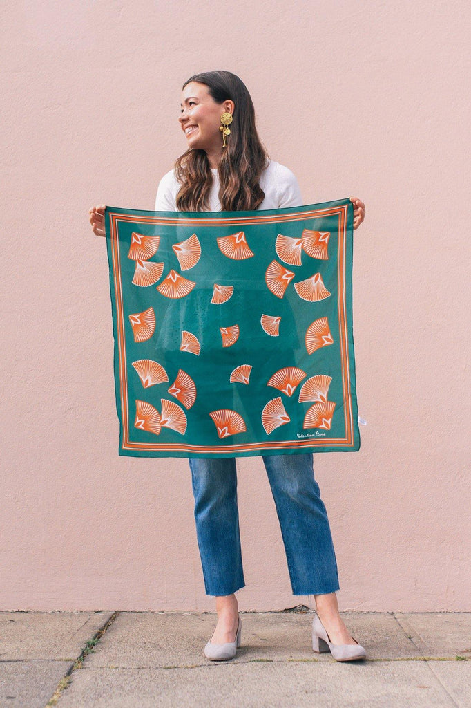 Summer Seashell Square Scarf