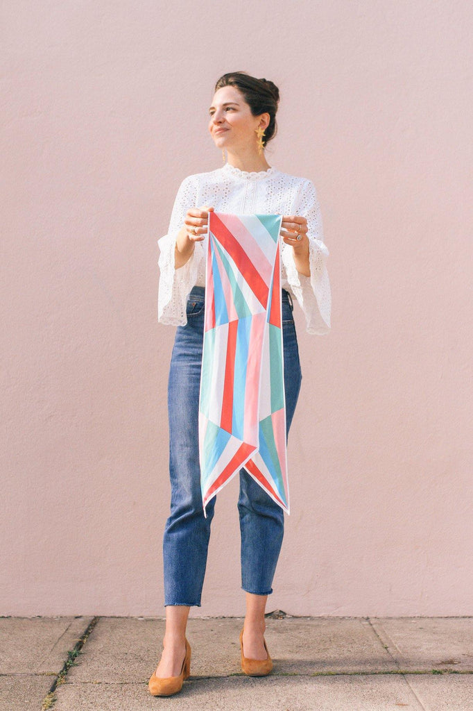 Pastels Geo Rectangle Scarf
