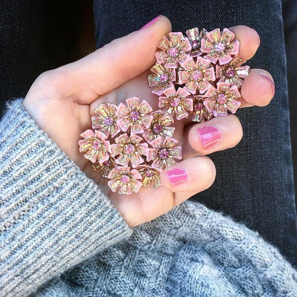 50's Ultimate Floral Statement Clips